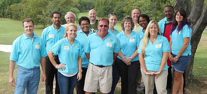 SMECO volunteers at the Charity Golf Tournament, October 2014