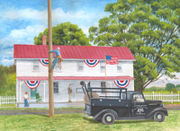 Mary Lou Troutman painting - SMECO's 75th Anniversary